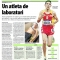 Un atleta de laboratori